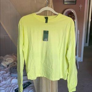 Plain Lime Green Long Sleeve T-Shirt